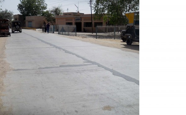 Cement road